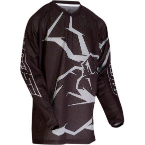 MOOSE RACING SOFT-GOODS Youth Agroid™ Mesh Jersey - Black/Gray