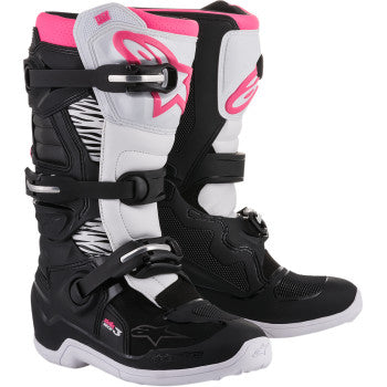 ALPINESTARS(MX) Stella Tech 3 Boots - Black/White/Pink