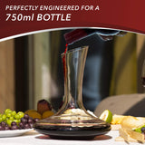 Wine Decanter Perfectly Engineered For A 750ml Bottle - Big Aroha