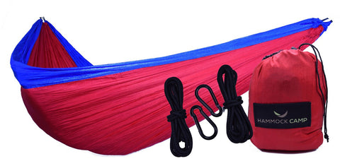 Camping Hammock Red & Blue - Big Aroha