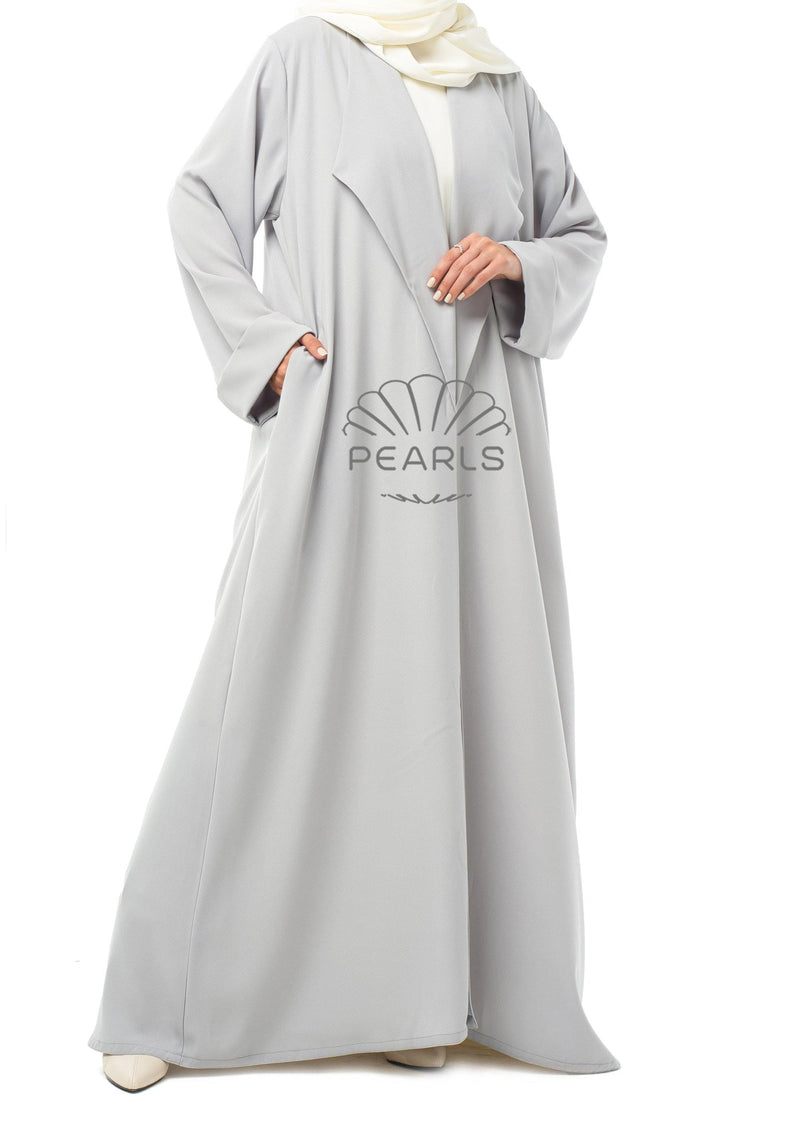Simple Abaya Dubai Grey - Pearls Dubai