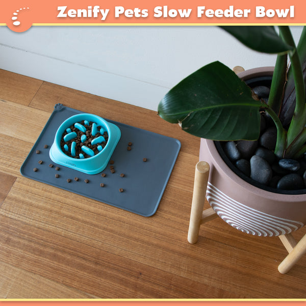 Zenify Pets Slow Feeder Dog Bowl
