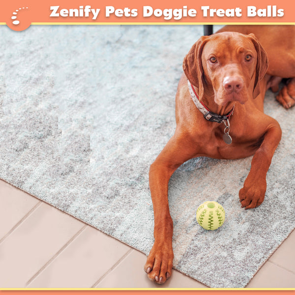 Zenify Pets Interactive Dog Toy Treat Ball (Large Multipack)