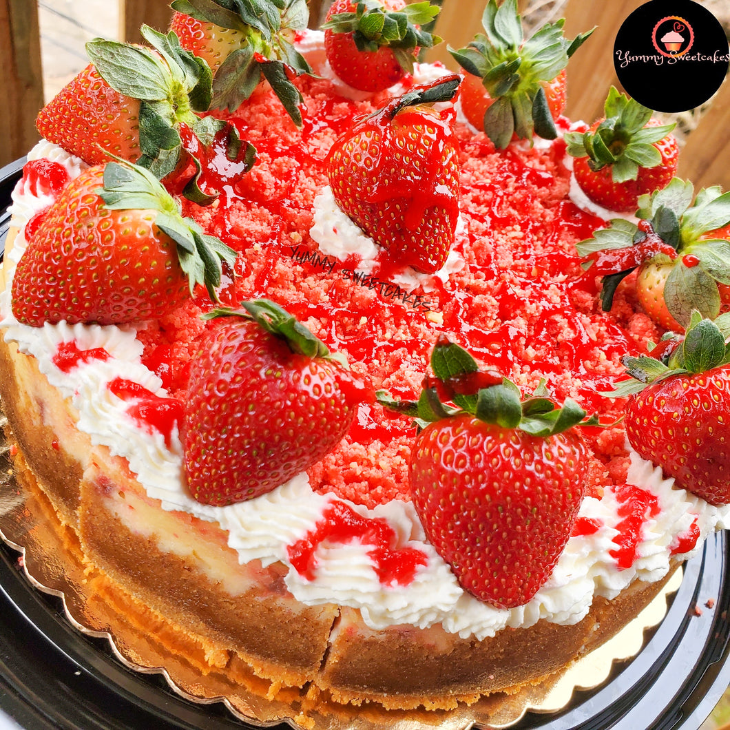 Strawberry Shortcake Whole Cheesecake
