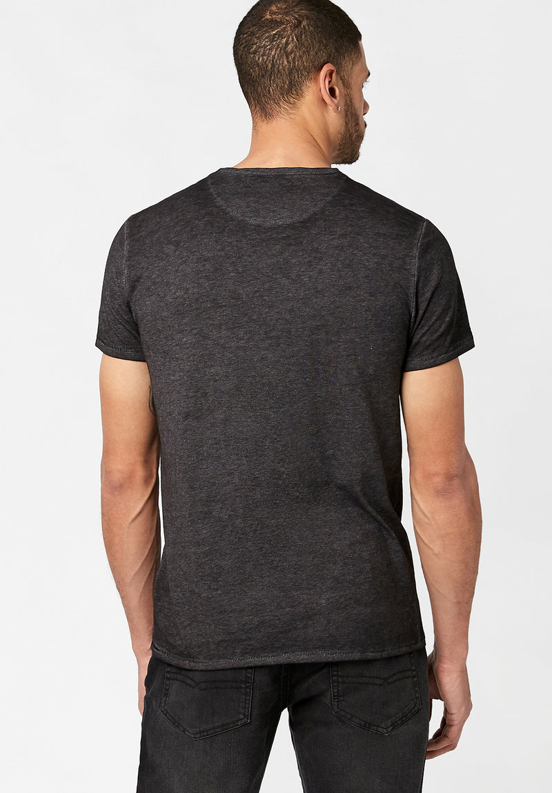 Buffalo David Bitton Kasum Henleys Color BLACK BM21411