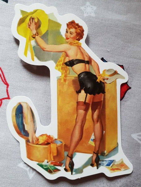 Pin up Lady vintage Rockabilly Sticker Vinyl sexy