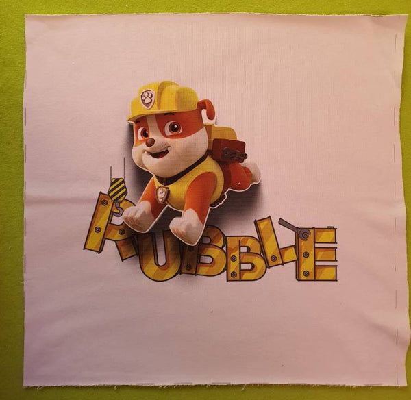 Jersey – Panel – Paw Patrol – Sweatstoff - Kinderstoff - Superhelden - Baumwolle - Rubble