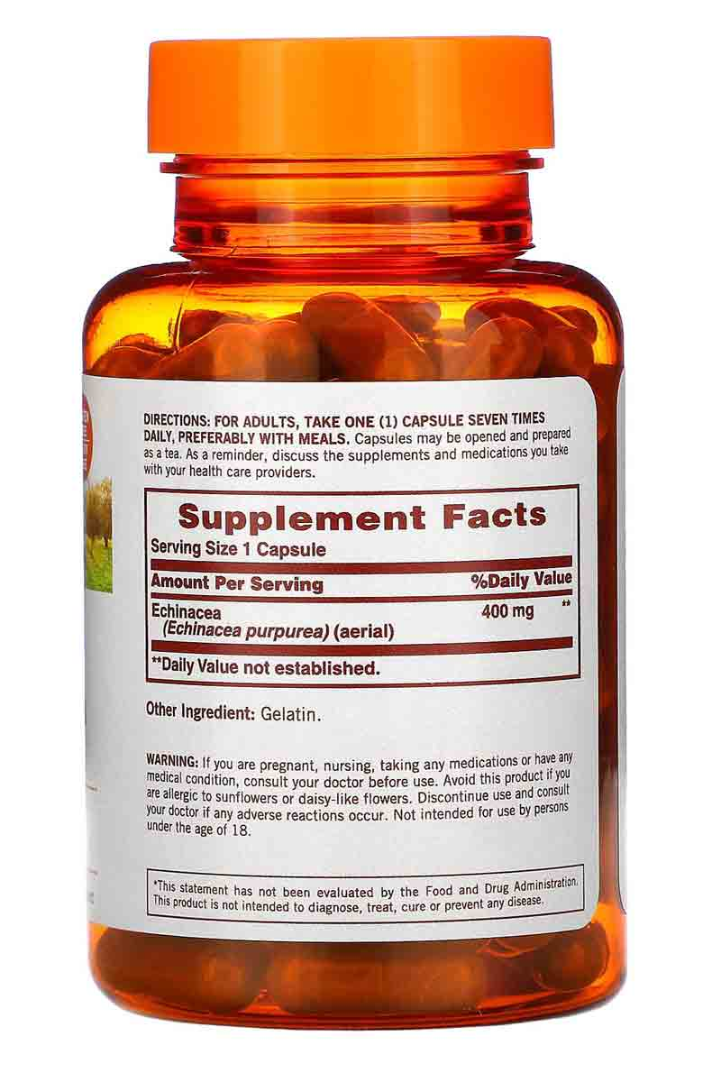 Sundown Echinacea 400 mg 100 Capsulas