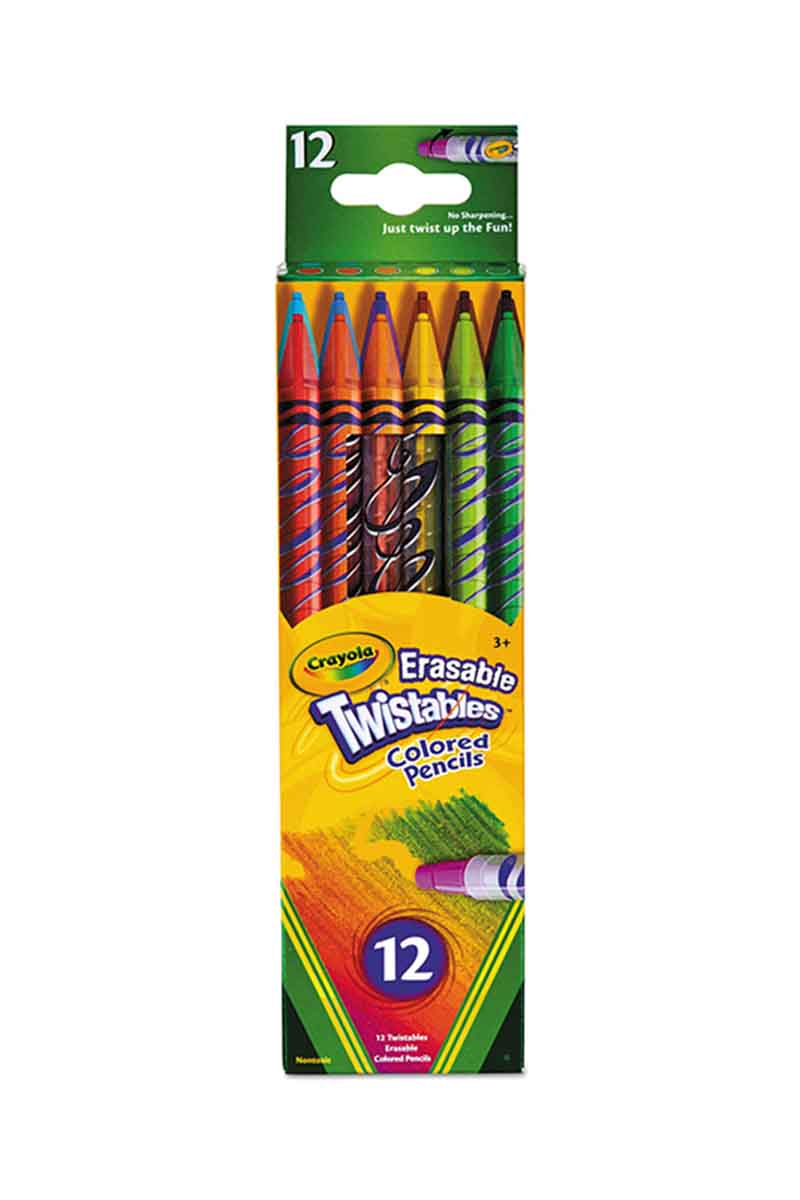 CRAYOLA 12 Colores Twistables borrables