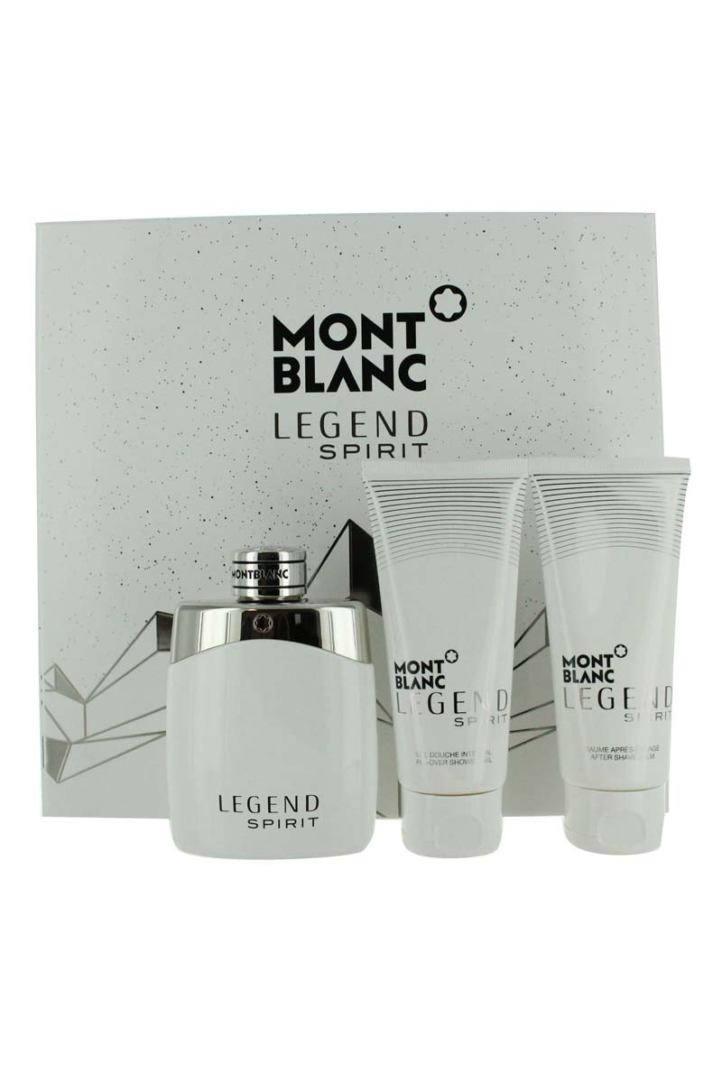 Mont Blanc Legend Spirit Set Eau De Toilette+After Shave+Shower Gel For Men