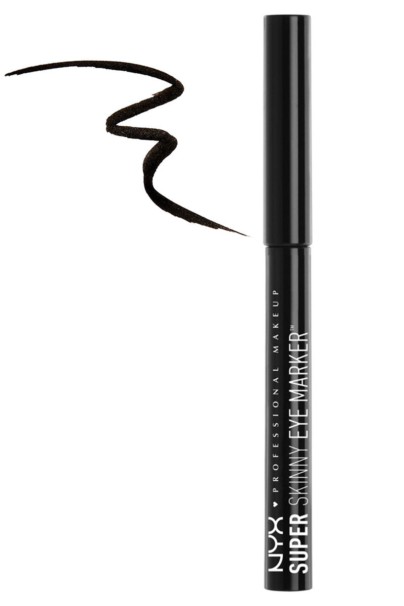 NYX SUPER SKINNY EYE MARKER BLACK 0.03 oz