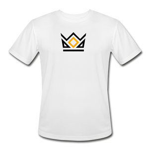 KNG CLASSIC | MEN'S MOISTURE WICKING PERFORMANCE T-SHIRT | DTG PRINT - white