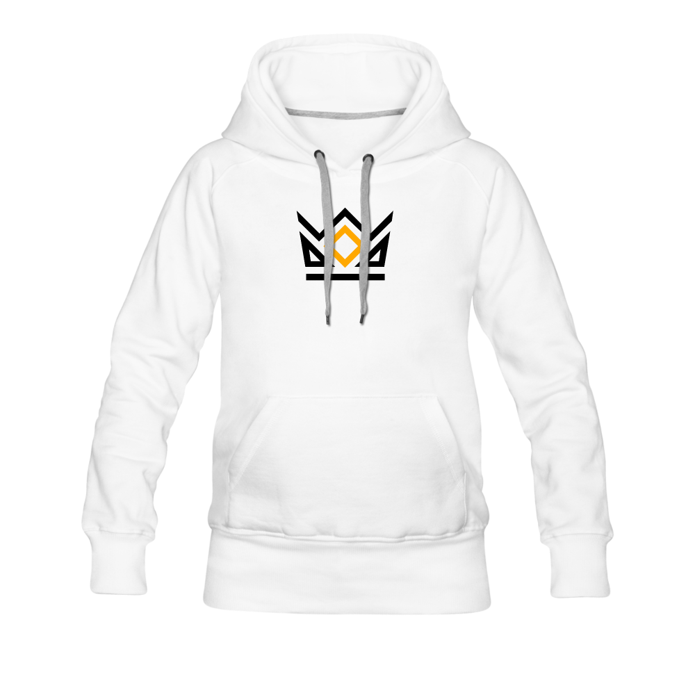 KNG CLASSIC COLLECTION | WOMEN'S PREMIUM HOODIE | DTG PRINT - white