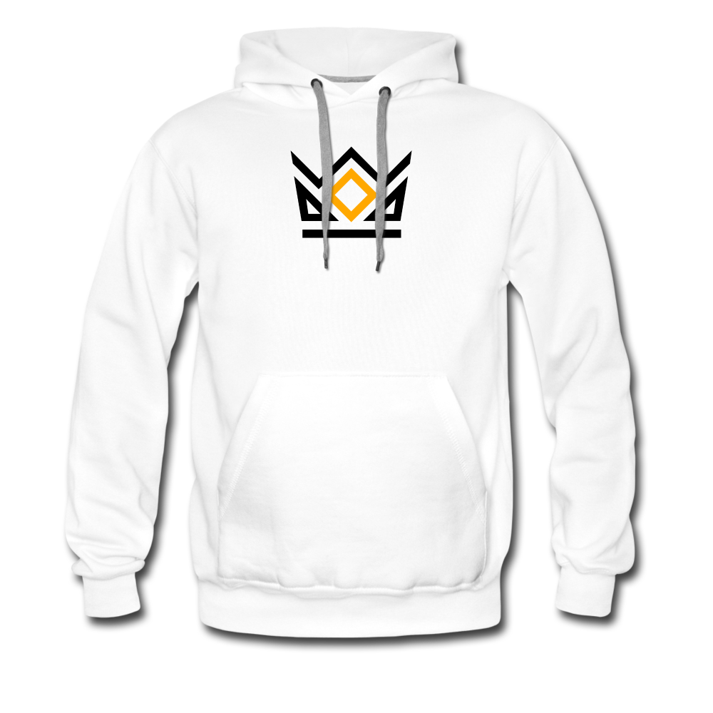 KNG CLASSIC COLLECTION | MEN'S PREMIUM HOODIE | DTG PRINT - white