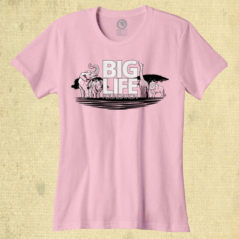 Big Life - Ladies Classic Tee - Charity Pink