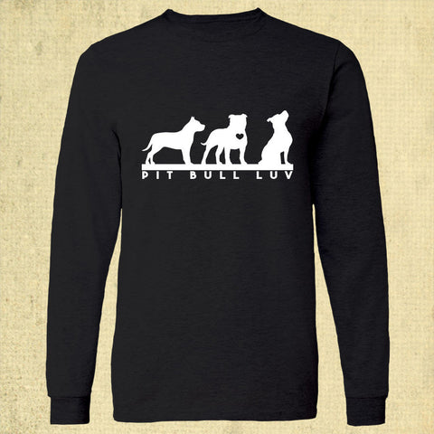 Pit Bull Luv - Adult Long Sleeve - Black
