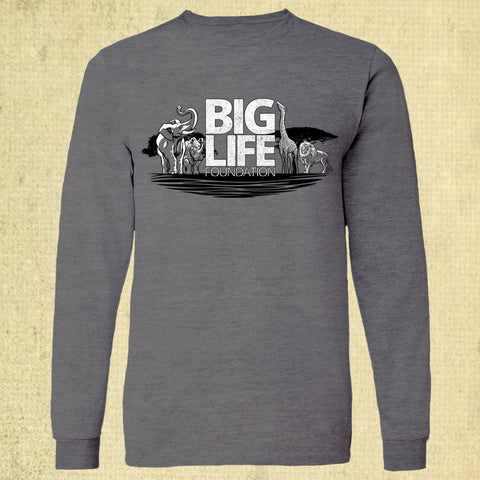 Big Life - Adult Long Sleeve - Storm Grey