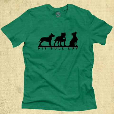 Pit Bull Luv - Adult - Heather Green