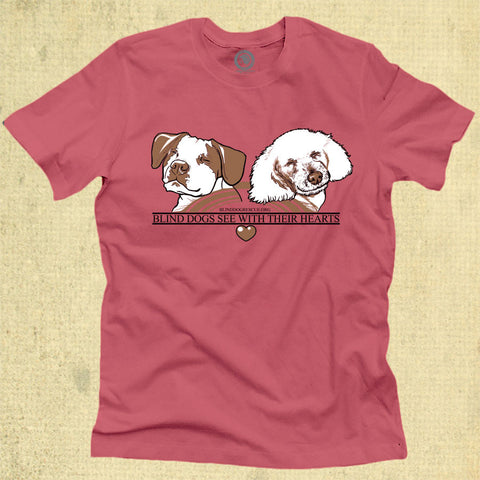 Blind Dogs See With Their Hearts - Adult - Coral