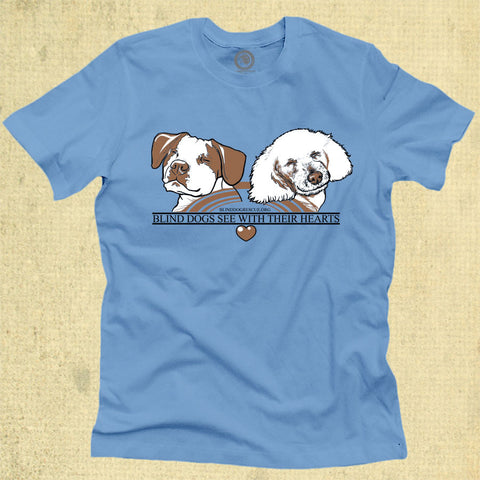Blind Dogs See With Their Hearts - Adult - Light Blue