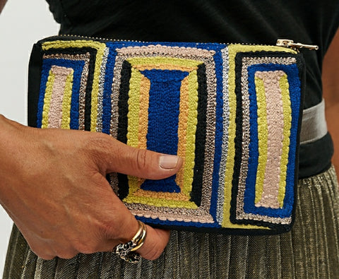 Lines Belt Bag Yellow / Blue
