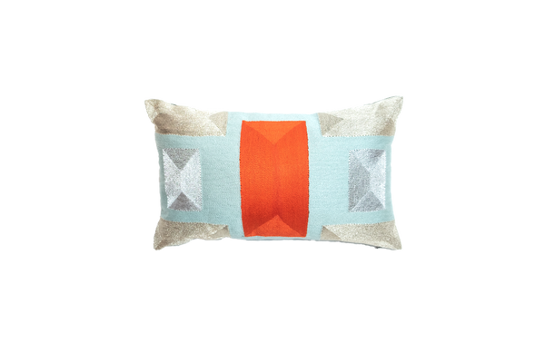 VEERO BLOCK MINI Persimmon/ Gold Pillow.