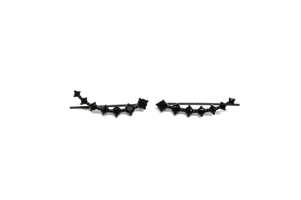 Bring it Black - Black Ear Climbers | Ear Crawler Earrings