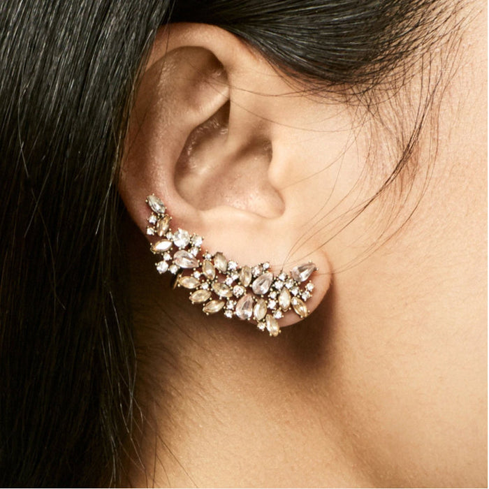 Once Upon A Climb - Jewel Ear Climbers | Crystal Ear Crawler Earrings