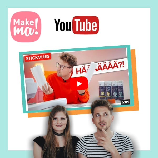 Ahrtal Stickerei und Makema Kooperation Partner Stickdateien youtube