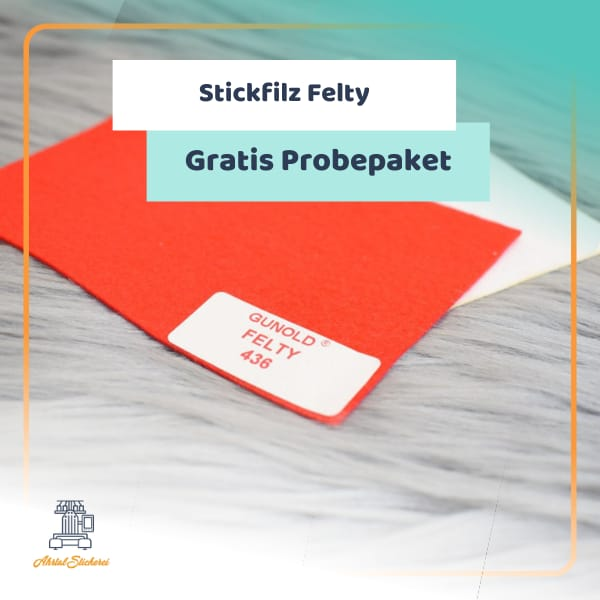 Stickfilz Felty gratis Probe Packet stickvlies Ahrtal Stickerei