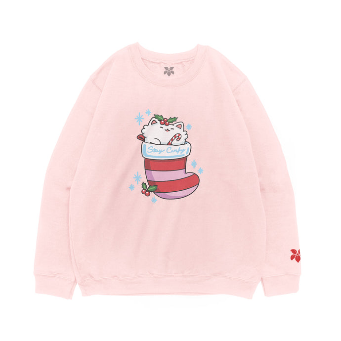 LILYPICHU | STOCKING STUFFER XMAS CREWNECK (PINK)