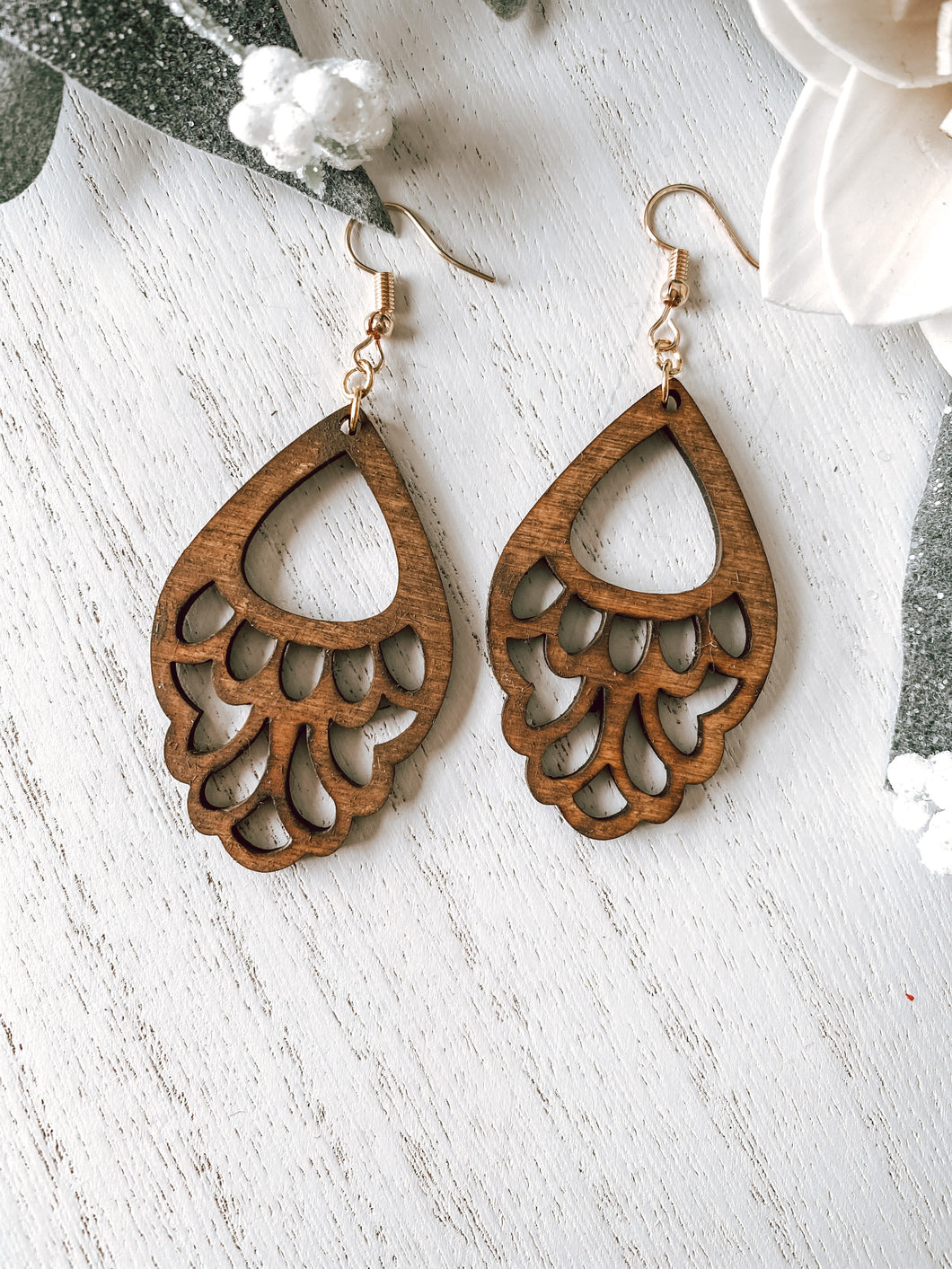 Emily Wood Drop Earrings