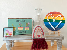 Load image into Gallery viewer, Rainbow Heart Interchangeable Farmhouse Frame