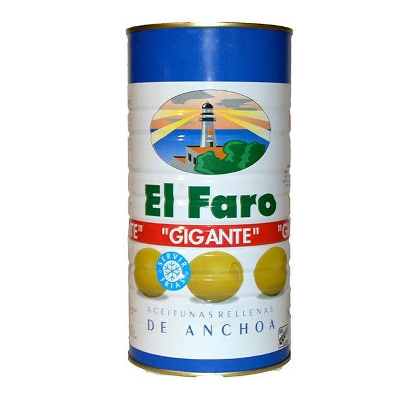 EL FARO GIANT OLIVE STUFFED WITH ANCHOVY 700 GR