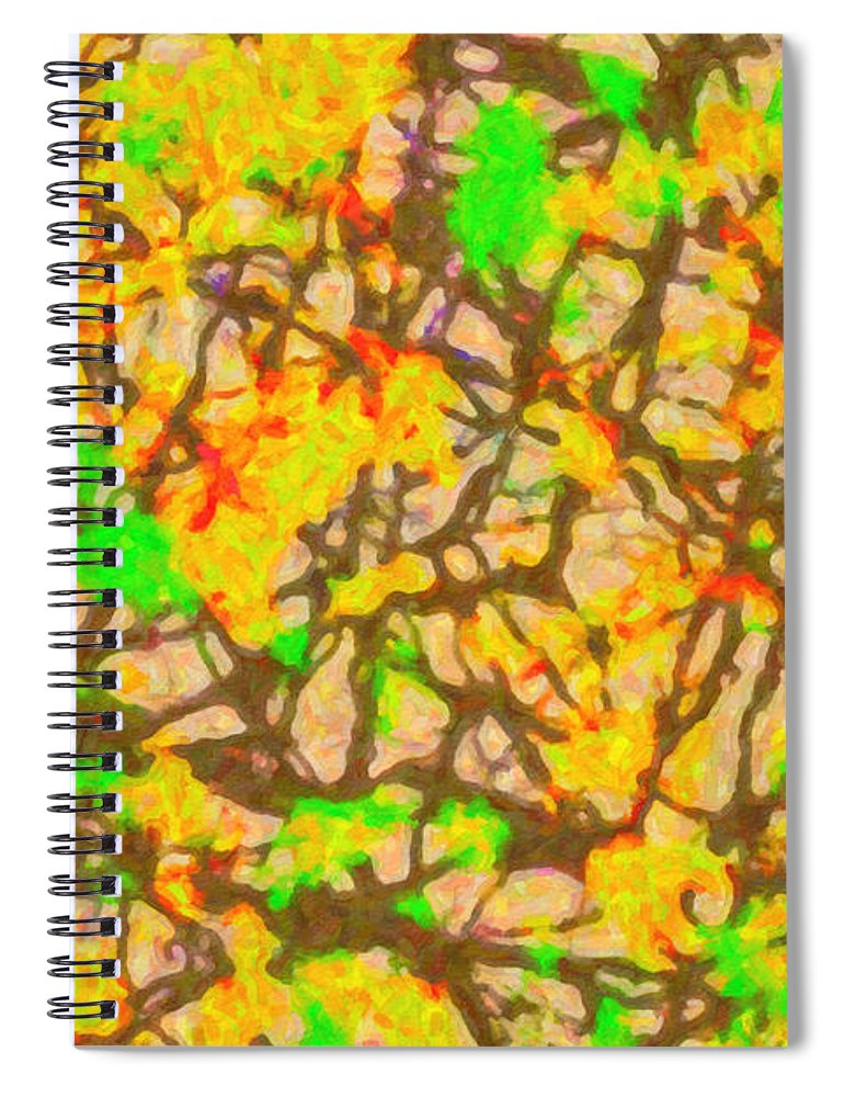 Autumn Abstract - Spiral Notebook