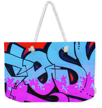 Load image into Gallery viewer, Blue and Purple Lettering Urban Art - Weekender Tote Bag