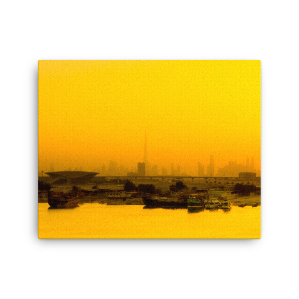 Dubai Sunrise Photographic Print on Canvas