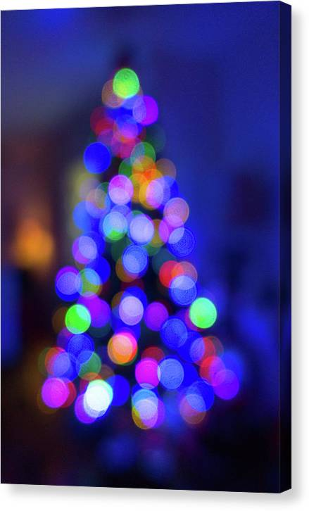 Christmas Tree Bokeh - Canvas Print