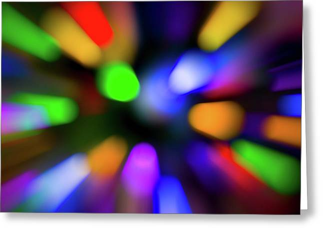 Christmas Tree Bokeh Zoom - Greeting Card