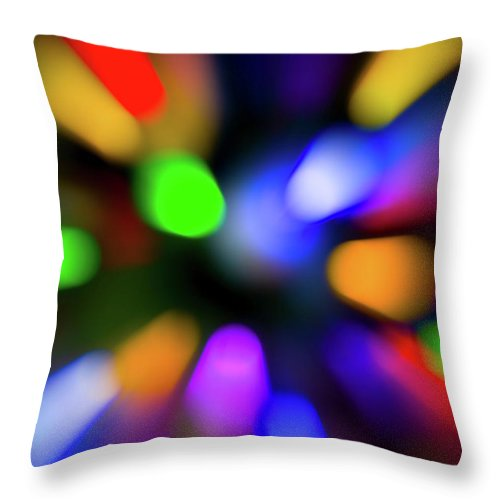 Christmas Tree Bokeh Zoom - Throw Pillow