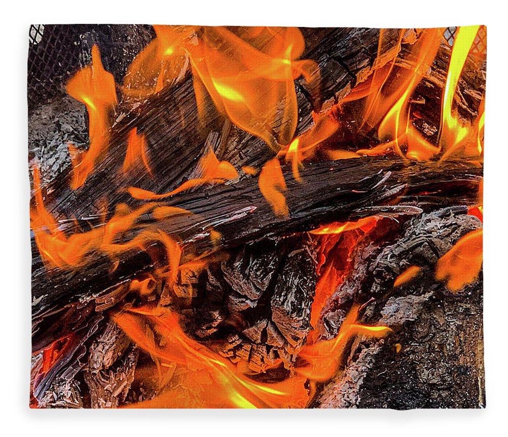 Fire Pit Flames - Blanket