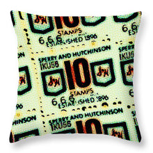 Load image into Gallery viewer, Green Stamps - Throw Pillow