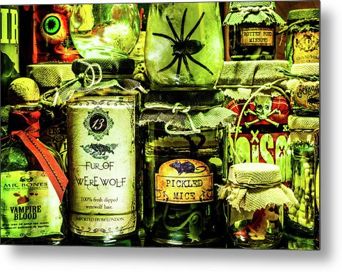 Halloween Potions - Metal Print