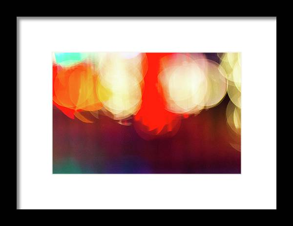 Holiday Lights Abstract Bokeh - Framed Print