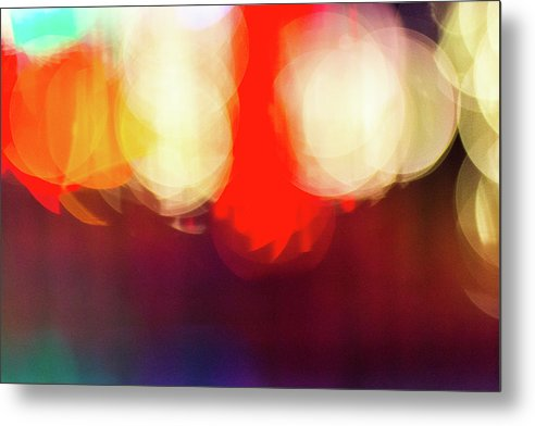 Holiday Lights Abstract Bokeh - Metal Print
