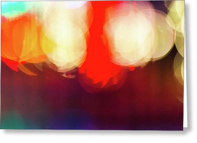Holiday Lights Abstract Bokeh - Greeting Card