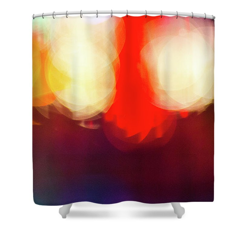 Holiday Lights Abstract Bokeh - Shower Curtain