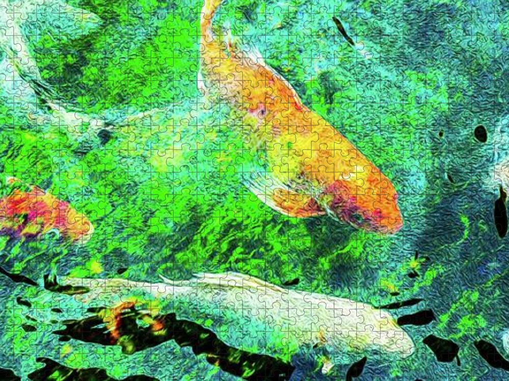 Koi Pond Abstract - Puzzle