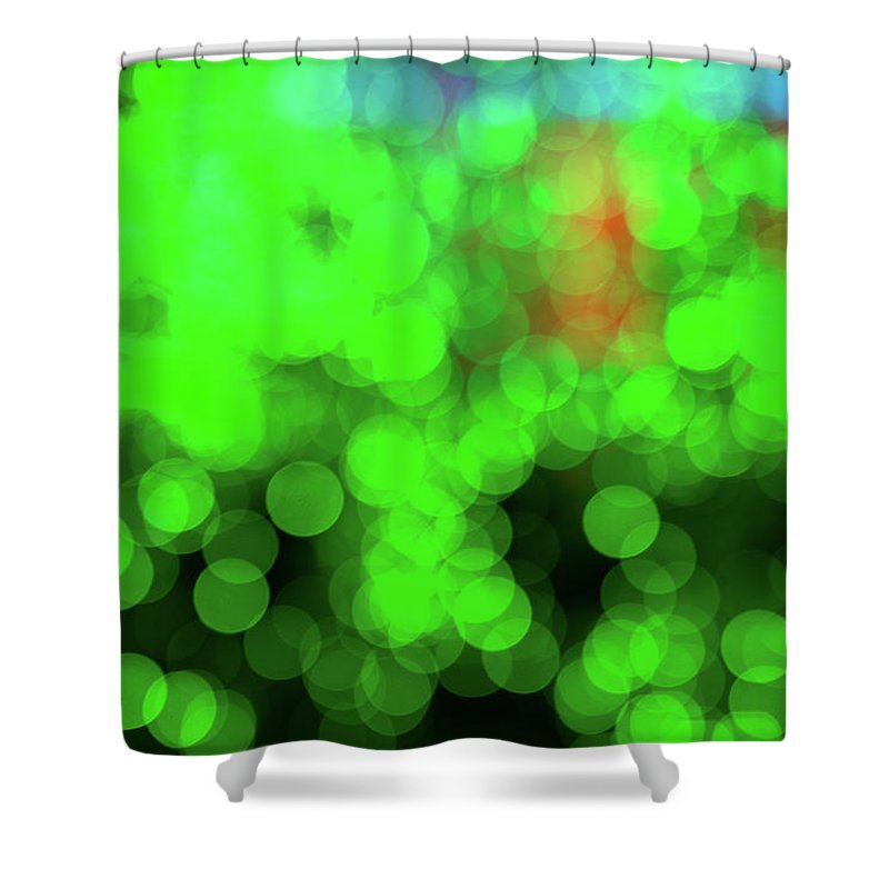 Mostly Green Bokeh - Shower Curtain