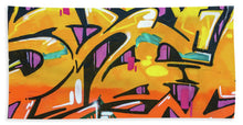 Load image into Gallery viewer, Orange Lettering Urban Art - Bath Towel